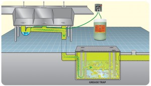 Using one of Brodi best grease trap treatments with automated dispensing system to eliminate FOGs as ongoing applications.