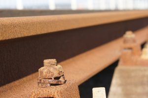 Rust bolts on rail with easy turn with liquid thread loosener