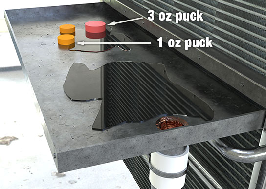 Brodi-Fan Coil Condensate Drain Treatment Pucks for blocked drains