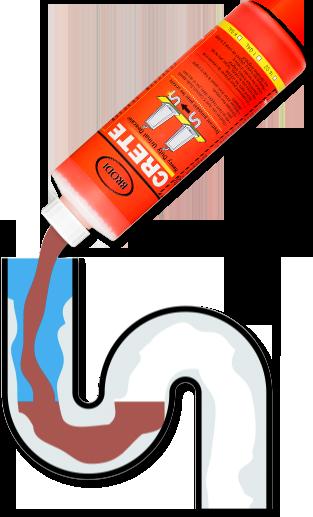 Crete fix urinal odors