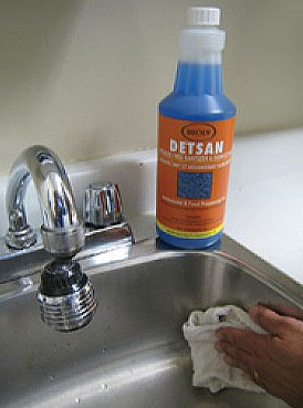 Sanitize and disinfect with Detco