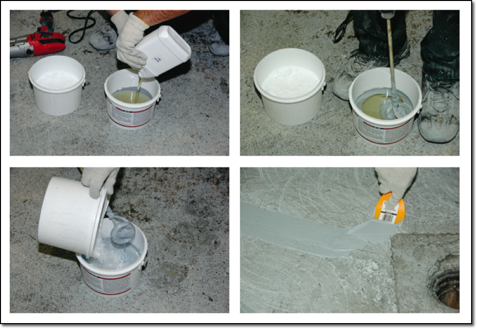 100% Solids Epoxy Concrete Floor & Crack Repair