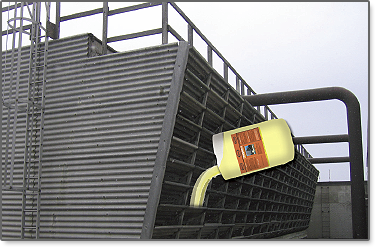Cooling tower cleaner Acts fast, breaks up and disburses deposit build-ups