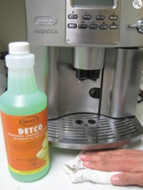 detco clean and disinfect coffee machine